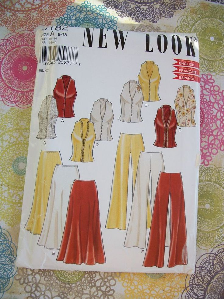 New Look Pattern 6182 Misses Skirt, Pants and Top Size 8 - 18 Uncut. #NewLook