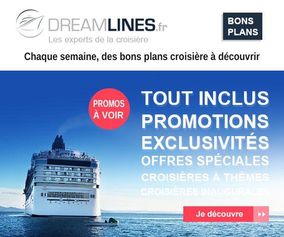 Dreamlines propose des croisières à prix très compétitifs, surtout sur sa page de bons plans et de réservations de dernière minute. D'autre part, le catalogue d'armateurs est très impressionnant.