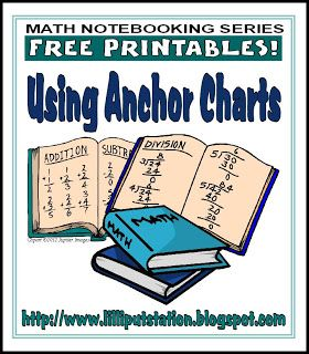 Lilliput Station: Using Anchor Charts In Math Notebooks {math notebooking}