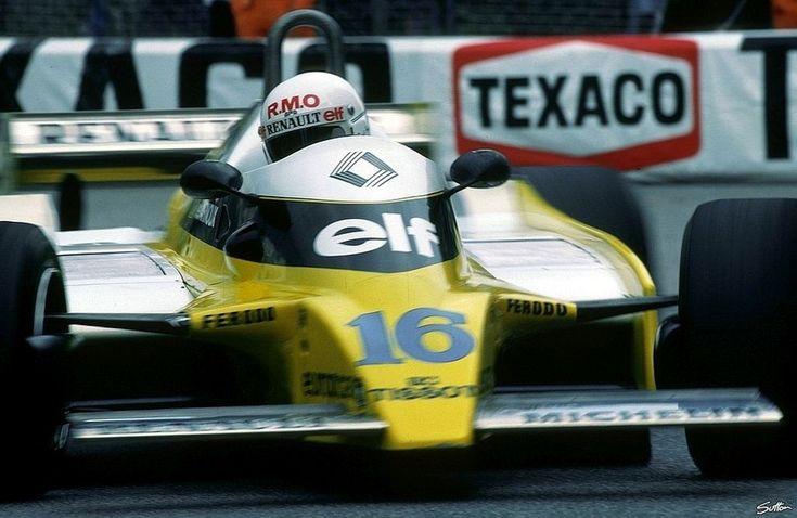 Rene Arnoux, Renault RE20, 1980 Monaco GP, Monte Carlo