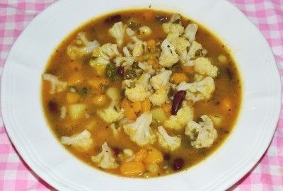Supa de conopida, dovleac si fasole #reteta #supa