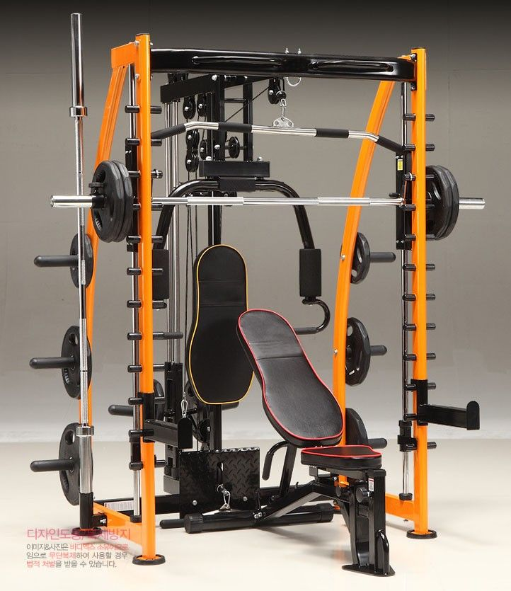 Multi Station Smith Machine Rack https://uk.pinterest.com/uksportoutdoors/home-gyms/pins/