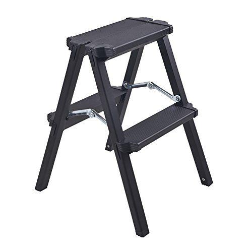 Awe Inspiring Wwl 2 Step Stool Aluminum Alloy Folding Ladder Inzonedesignstudio Interior Chair Design Inzonedesignstudiocom