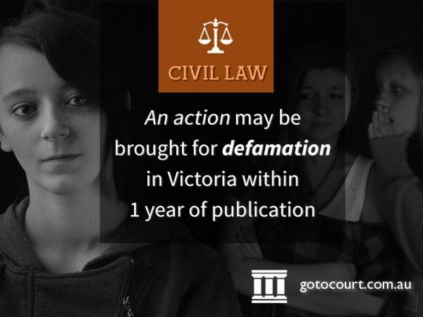 Generally, defamation in Victoria is the publication of materials that has a negative impact on the reputation of an individual, and the statements in the publication are not substantiated by facts.  Read more: Defamation in Victoria, Link: https://www.gotocourt.com.au/civil-law/vic/defamation/