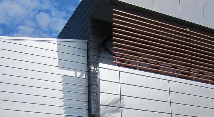 Fielders Finesse 'Boulevard' range.  External wall cladding. Panels to run horizontally.
