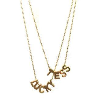 ketting kettinkje goud letters naam initiaal verguld shoptip beadies 9straatjesonline musthave