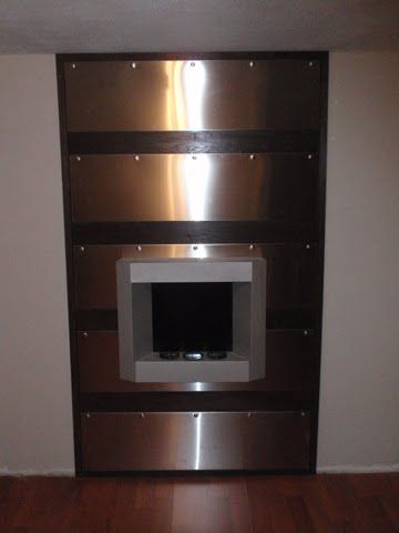 Ikea Hackers Udden Stainless Steel Fireplace Wall For