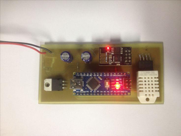 Monitoramento de Temperatura e Umidade Remoto - Utilizando Arduino nano/Esp8266-01/