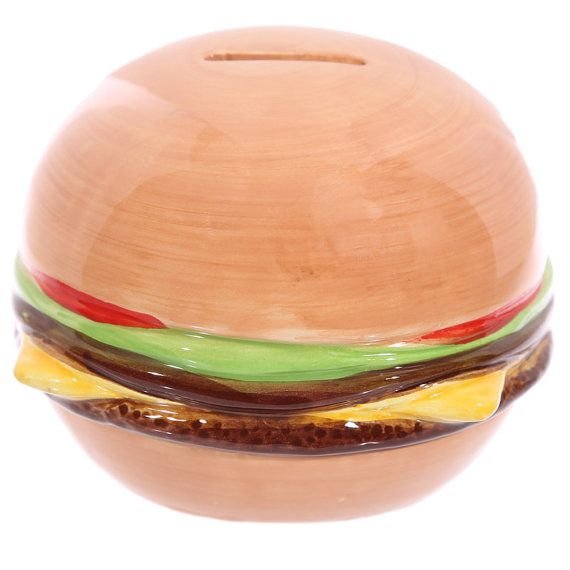 Money Box Novelty Fast Food Burger Unusual Gift by getgiftideas