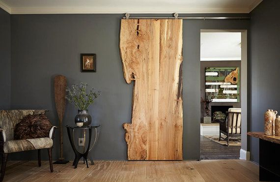 Live Edge Sliding Doors – Maple, Walnut, Glass Window