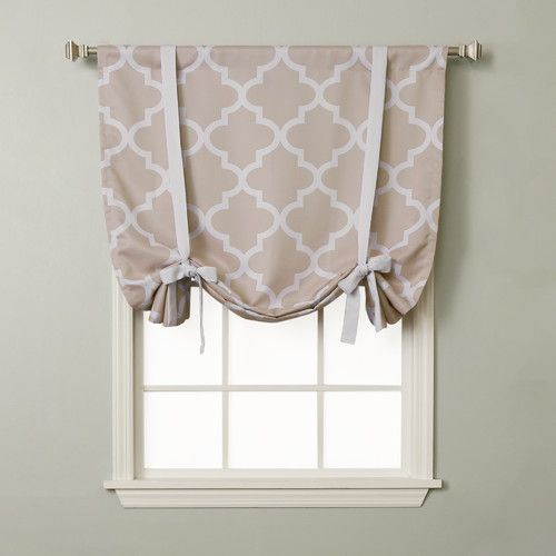 Found it at Joss & Main - Quatrefoil Rod Pocket Tie-Up Curtain Panel