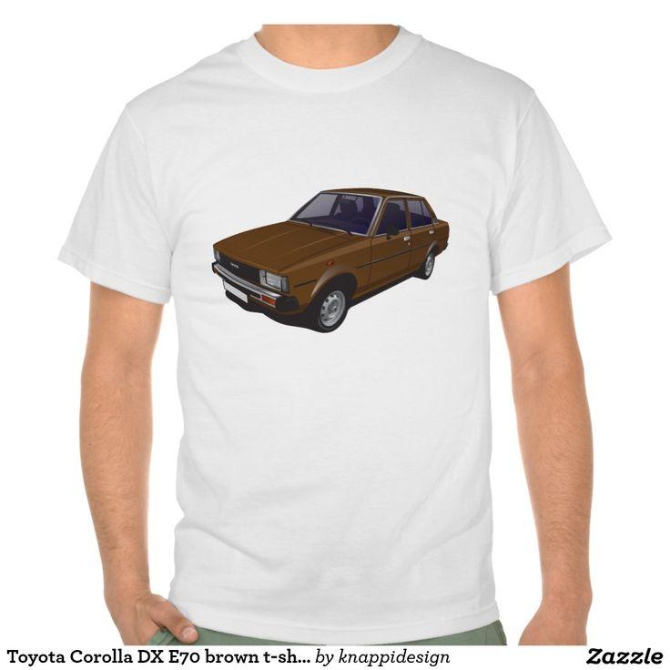 Toyota Corolla DX E70 brown t-shirt  #toyota #corolla #toyotacorolla #corolla #dx #e70 #tshirt #thirts #tpaita #ttroja #zazzle #automobile #car #bil #auto #classiccars https://automobile-t-shirts.blogspot.fi/search/label/Toyota
