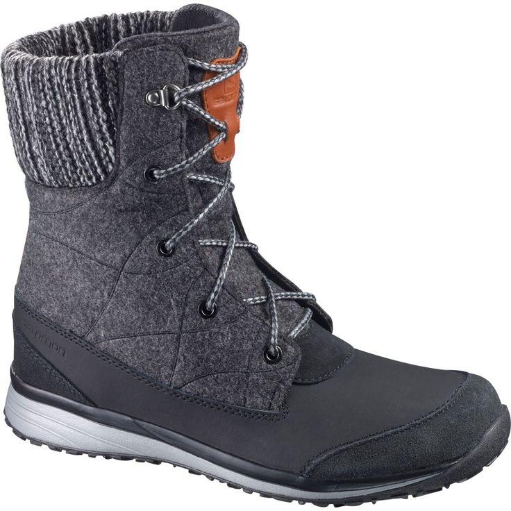 Salomon - Hime Mid Winter Boot - Women's - Black/Asphalt/Pewter