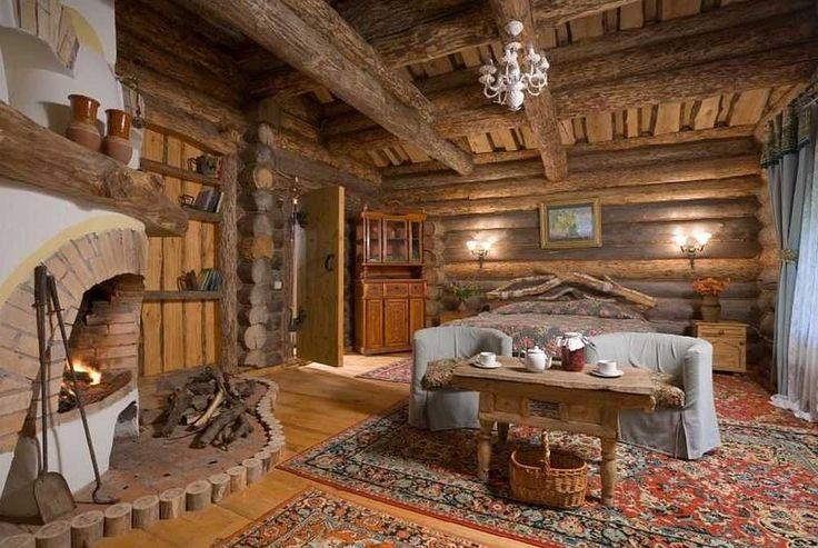 Интерьер деревянного дома внутри: фото и видео идеи