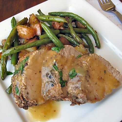 The Other Side of Fifty: Balsamic And Herb Pork Tenderloin With Roasted Vegetables