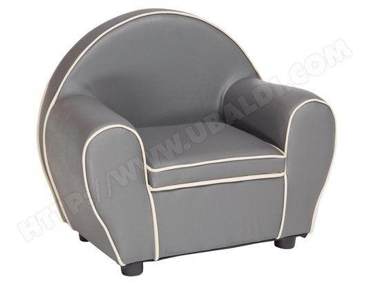 fauteuil enfant babysun fauteuil club gris bk80