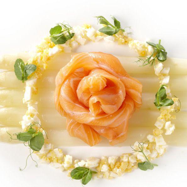 Gemarineerde asperges met gerookte zalm - Maison van den Boer !
