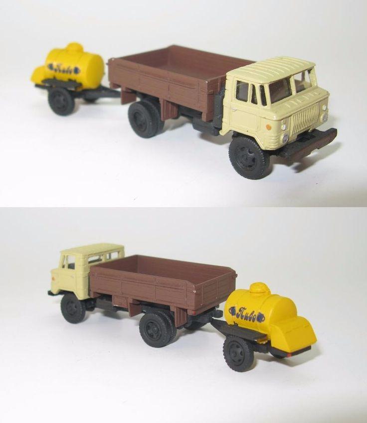 GAZ-66 Holzpritsche road wheels mit Tank-Anhanger ACPT-0,9 Bier UdSSR - 1:87 HO