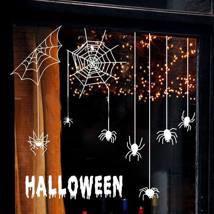 Купить товарХэллоуин паук украшения хэллоуин стена стикеры проп магазины ну вечеринку окно наклейки стена наклейки в категории Наклейки на стенуна AliExpress.       Если вы наклеить на стекло, стекло стикер 2 стиль          НОРМАЛЬНЫЙ СТИЛЬ (палки снаружи увидеть снаружи), зерка