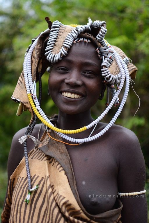 Mursi girl, Omo valley, Ethiopia, Africa. More at www.nicdumesnil.com
