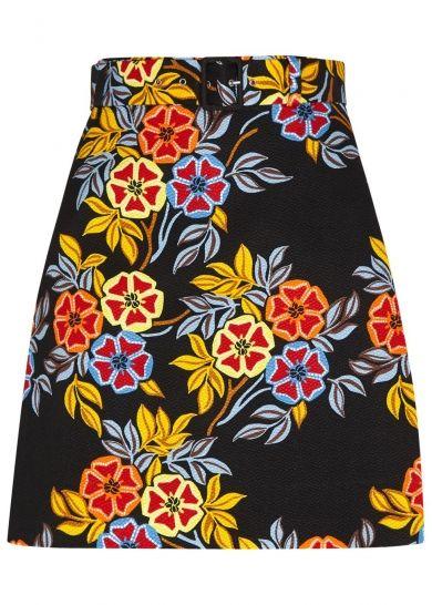 MSGM multicolouredsatin cloquémini skirt at Harvey Nichols
