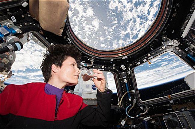Kehidupan di luar angkasa tentulah jauh berbeda dengan kelangsungan hidup di Bumi. Tidak adanya gravitasi di luar angkasa membuat tubuh melayang di udara. Bagaimana kita bisa melakukan aktivitas jika tidak ada gravitasi? Untuk sekedar bersantai sembari menenggak kopi juga sulit.  Astronot pada Int