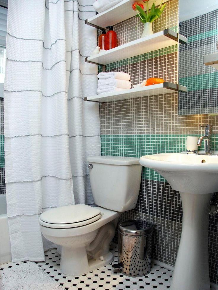 azulejos de colores para el baño pequeño