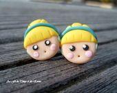 Boucles d'Oreille puce Princesse Cendrillon : Boucles d'oreille par geekmania