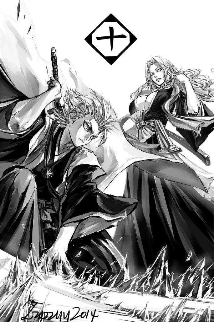 characters Toshiro Hitsugaya and Rangiku Matsumoto from Bleach 6th by zzyzzyy deviantArt