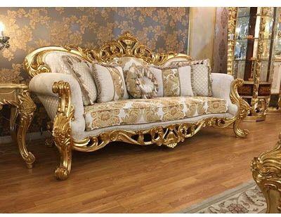 Mebel Dan Furniture Jepara Elegant Soffa Gold 3d