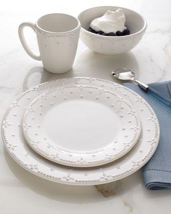"""Genevieve"" 16-Piece Dinnerware Service - Neiman Marcus  white, also comes in cream"