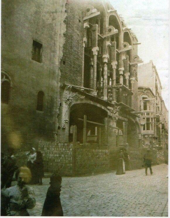 Palau de la musica catalana en construcció. Barcelona 1905-1908. Obra de Lluís Domènech i Montaner.