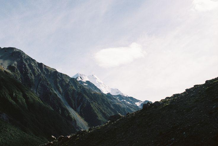 Cloud wisps over Aoraki/Mount Cook, New Zealand