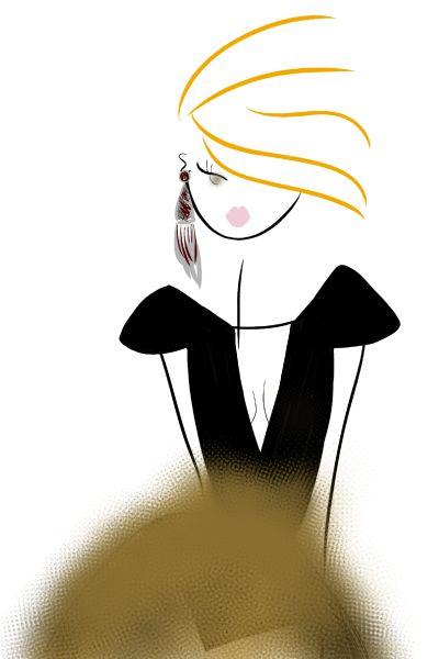 Rocker Chic #fashion #fashionillustration #bybc