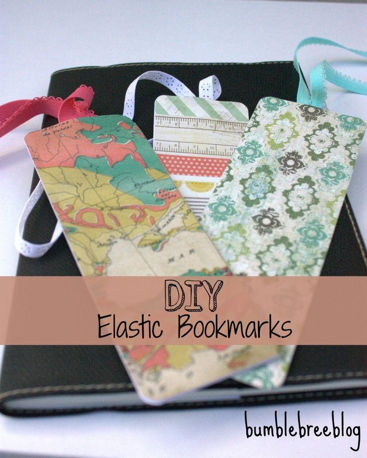 Bumblebreeblog: DIY Elastic Bookmarks