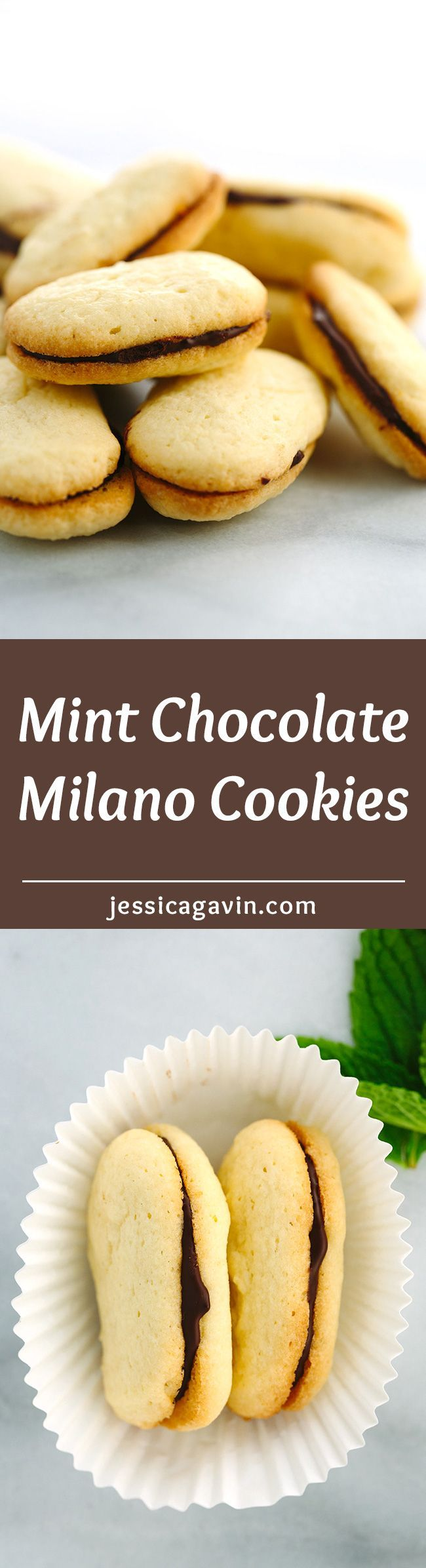 Homemade Mint Chocolate Milano Cookies - These little sweet sandwiches ...