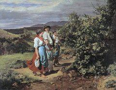waldmuller, ferdinand georg - Die Liebenden am Scheideweg (Heimkehr von der Arbeit)