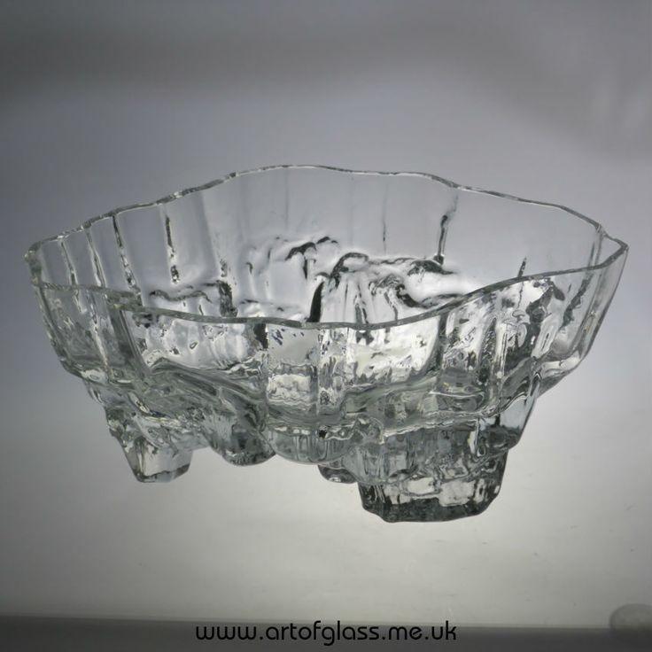 Iittala Inari large glass bowl by Tapio Wirkkala