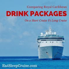 Compare Cruise Drink Packages on Short and Long Cruises. Do you save more money with a cruise drink package on long or short cruises? We take a look here!