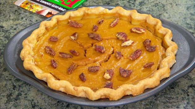 This Savory Pumpkin Pie recipe that will taste great with Moscato!