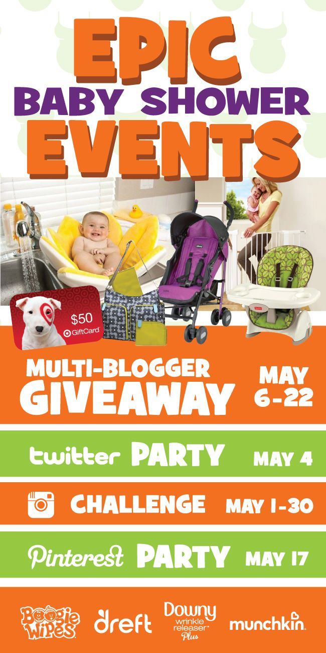Join some of your favorite brands for an EPIC Baby Shower month of activities! Click here to join in the fun and see how you can win HUGE prizes!