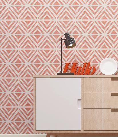 Modern Geometric Pattern Wall Stencil