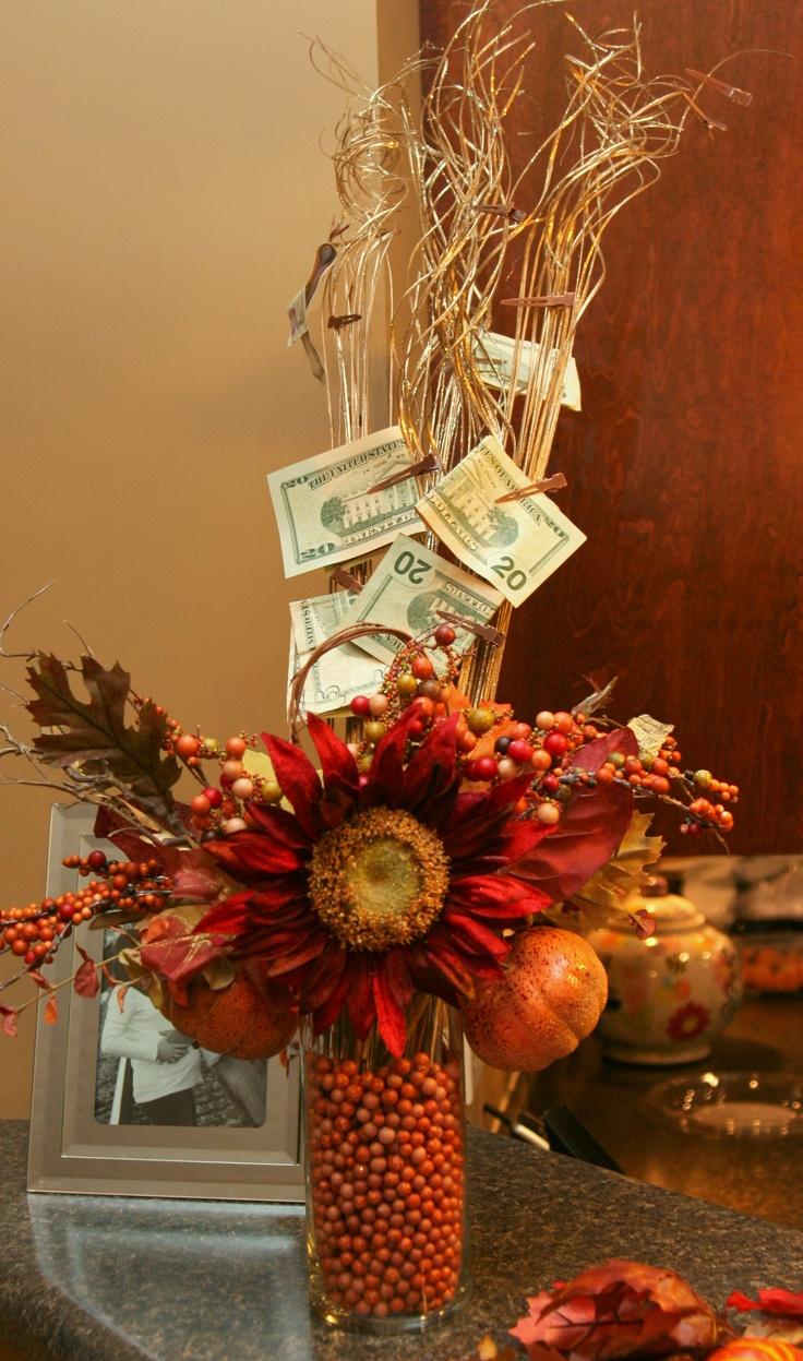 Money Tree Fall Centerpiece