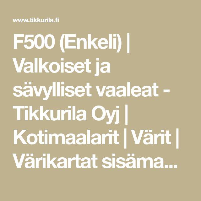 F500 (Enkeli) | Valkoiset ja sävylliset vaaleat - Tikkurila Oyj | Kotimaalarit | Värit | Värikartat sisämaalaukseen | Tunne Väri -värikartta