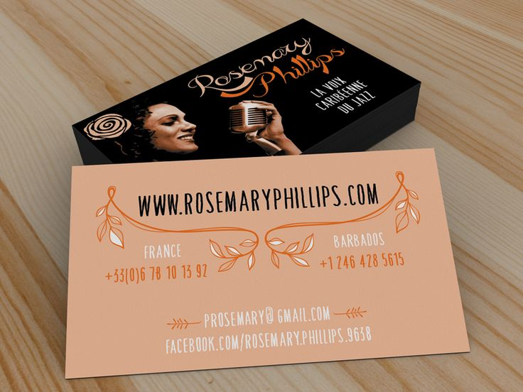 Conception graphique et création des affiches, flyers, invitations et cartes de visite pour Rosemary Phillips.  Augusto Cabral | Graphiste Webdesigner | Rennes www.augustocabral.com