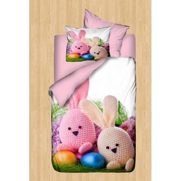 Sweet Rabbits Resimli Bebek Nevresim Takımı