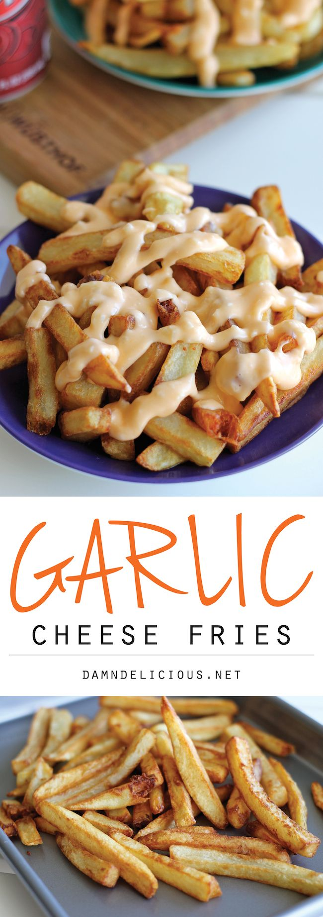 Garlic Cheese Fries - Perfectly double-fried french fries smothered in ...