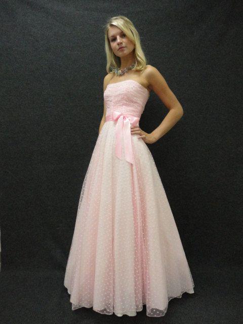 80s Dress // 80s Prom Dress // Vintage 1980s Strapless