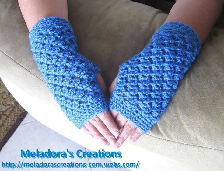 Angel Stitch Finger Less Gloves - Free Pattern and Tutorial - Meladora's Creations