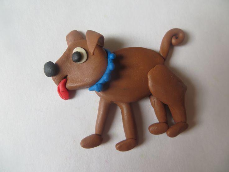 Делаем собаку из пластилина